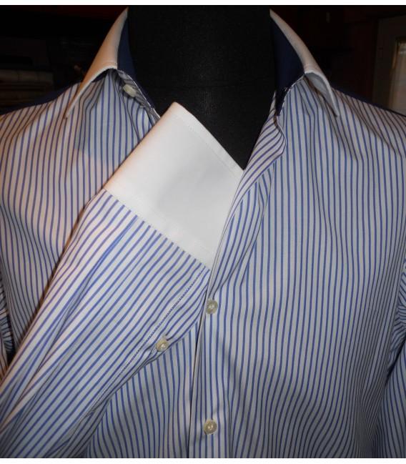 fotografie immagini Camicia Granato - Bianco - Shine