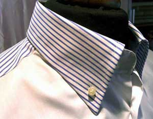 Classic Italian shirt with beveled pocket