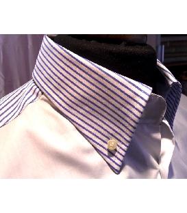 Camicia classica italiana con taschino smussato