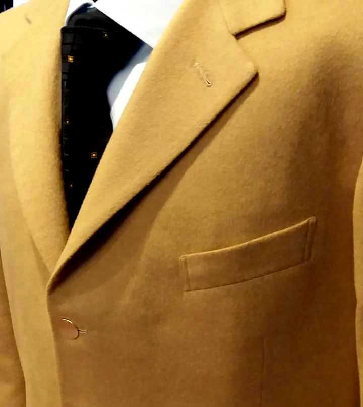 giacca uomo su misura colore cammello - Elins moda