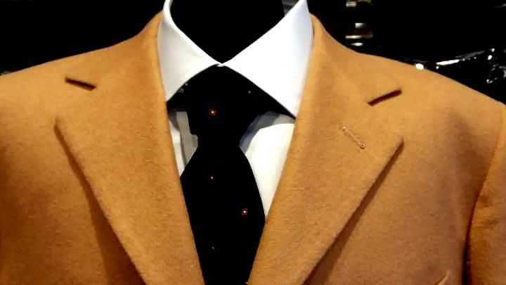 giacca cammello camicia e cravatta - Elins moda uomo