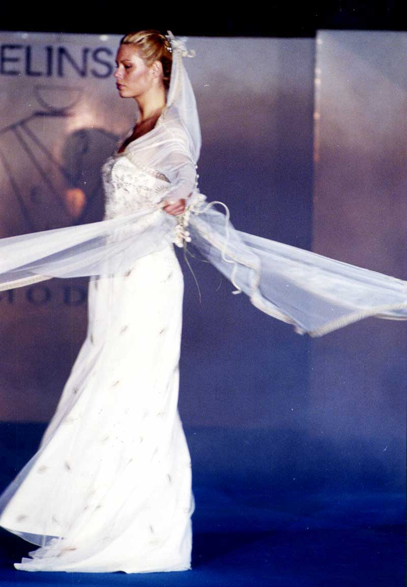 abito bianco classico - Elins sartoria su misura