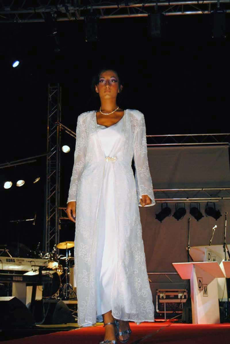 vestito con tessuti particolari per cerimonia - negozio Atelier a Roma