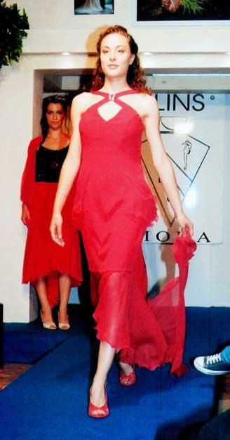 abito da sera su misura stilista moda donna Elins