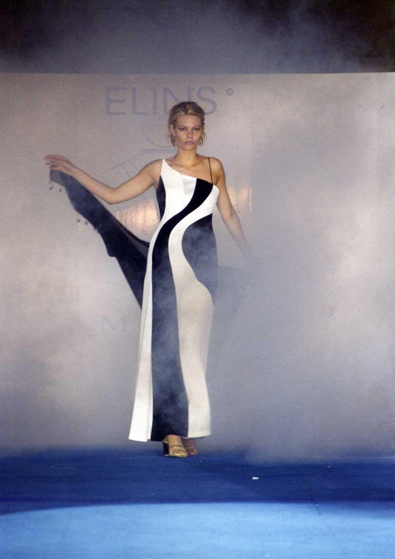 vestito donna in nero e bianco - Elins moda