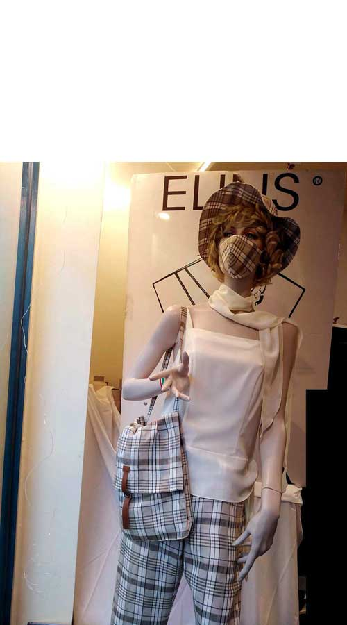 fotografie immagini Completo donna abito a quadri - Amelia