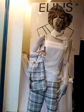 Completo donna abito a quadri - Amelia