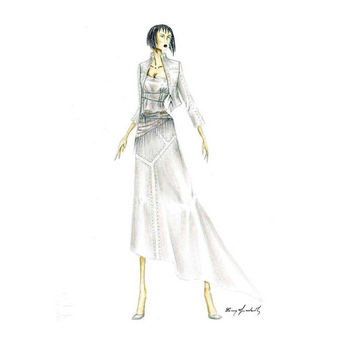 Elins Moda - stilista abiti su misura - disegno progetto 1