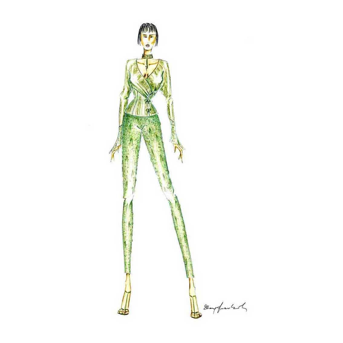 Elins Moda - stilista abiti su misura - disegno progetto 2