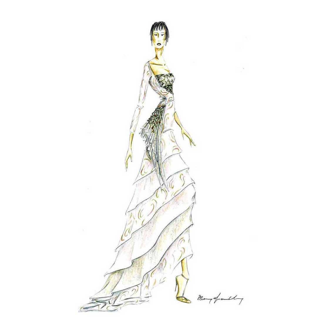 Elins Moda - stilista abiti su misura - disegno progetto 3