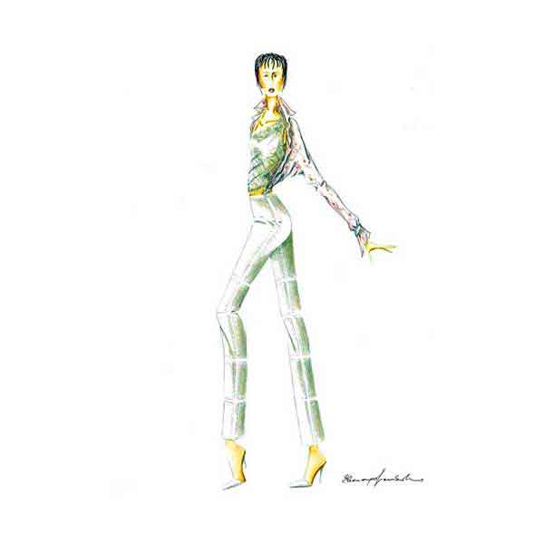 Elins Fashion - tailored clothes designer - project drawing 1