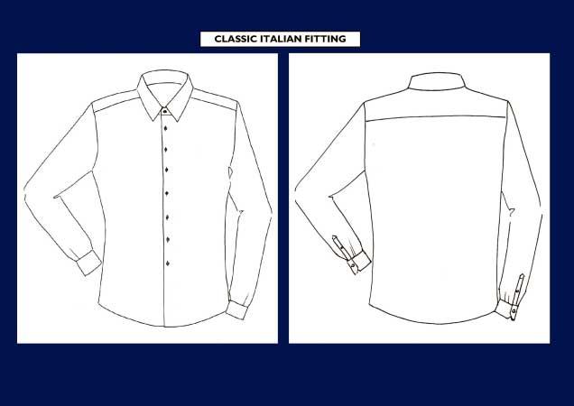 vestibilità camicia classica italiana