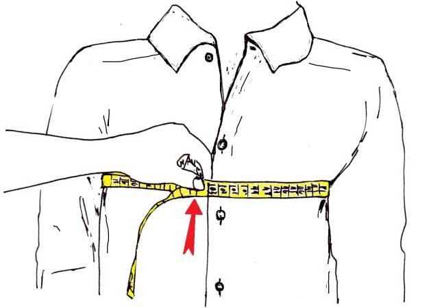 misurare il torace della camicia - sartoria Elins moda