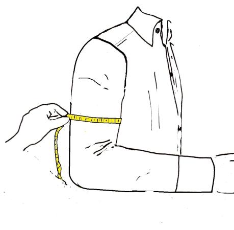 misurare il bicipite per la camicia - sartoria Elins moda