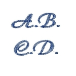 carattere script