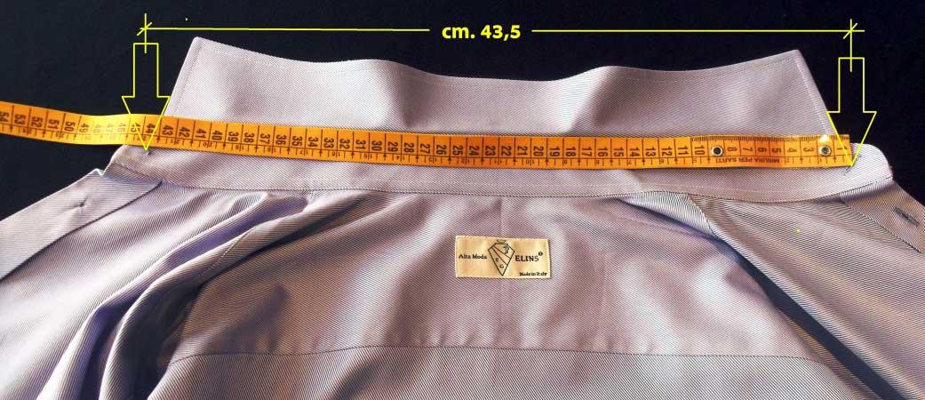 misura collo camicia - sartoria elins