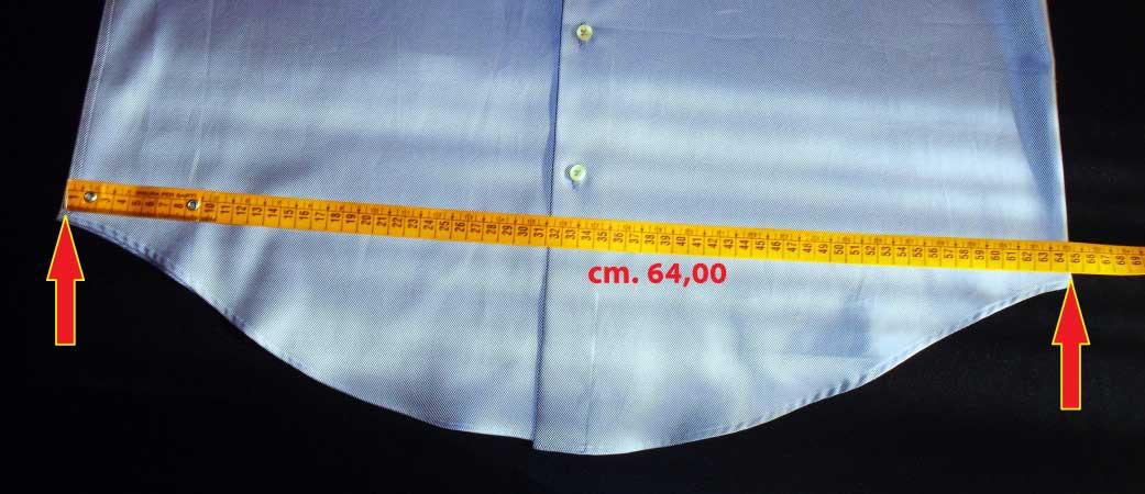 misura fianchi camicia - sartoria elins
