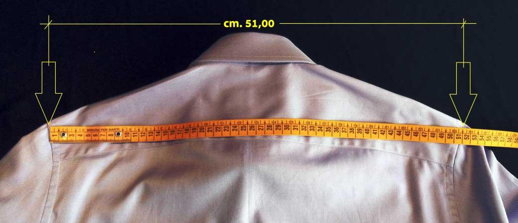 zmierzyć ramiona koszuli - krawiectwo elins