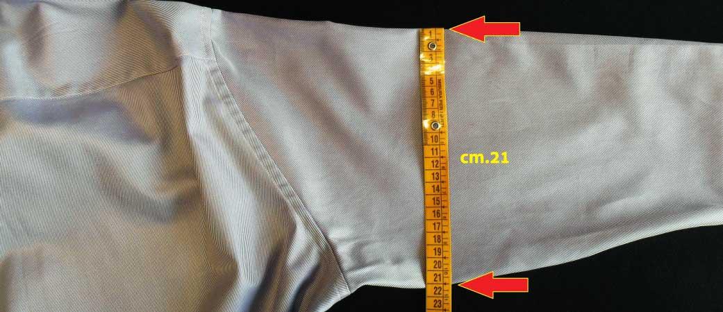 misura bicipite camicia - sartoria elins