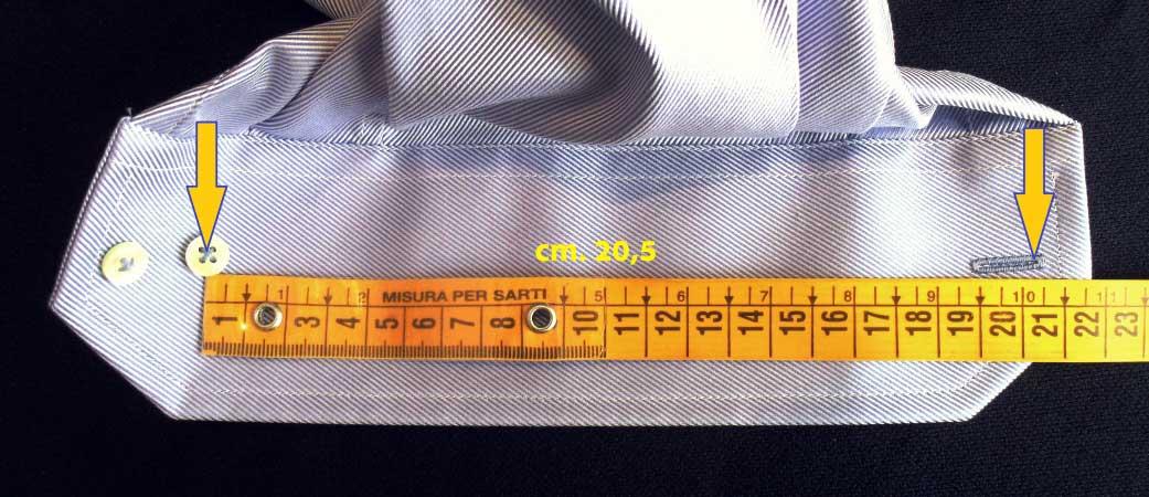 zmierzyć koszulę na nadgarstek - krawiectwo elins